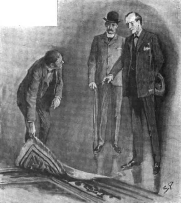 Sherlock Holmes The Second Stain He took the corner of the carpet in his hand