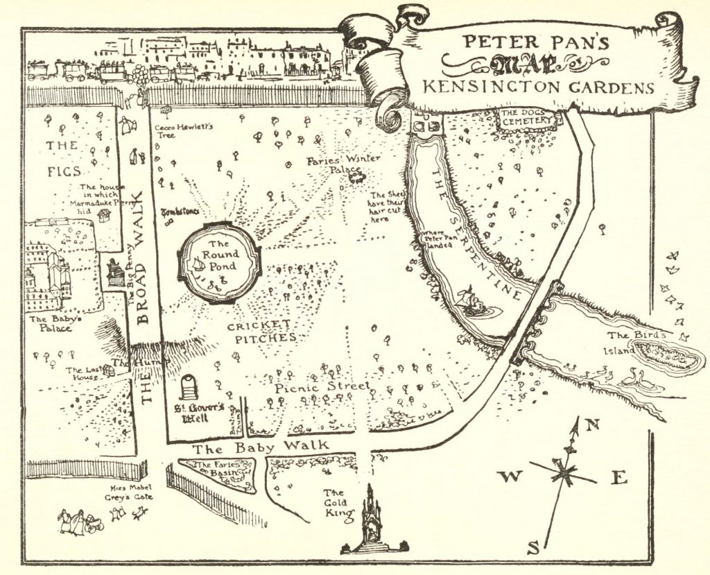 Peter Pan's Map of Kensington Gardens