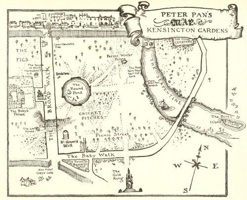 Peter Pan's Map of Kensington Gardens