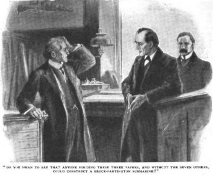 Sherlock Holmes The Adventure of the Bruce-Partington Plans Do you mean to say that anyone holding these three papers, and without the seven others, could construct a Bruce-Partington submarine?