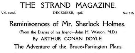 Sherlock Holmes The Adventure of the Bruce-Partington Plans