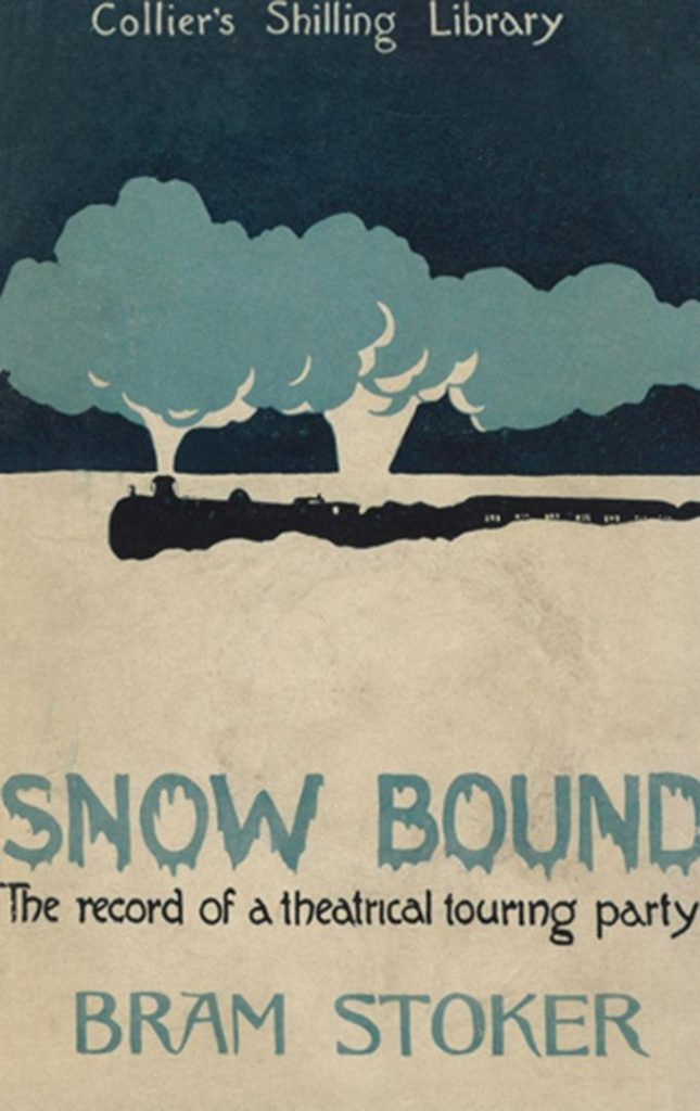 Snowbound Book Cover by Bram Stoker