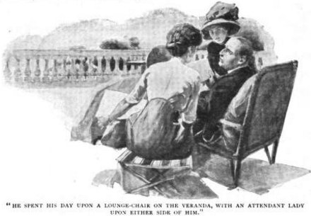Sherlock Holmes The Disappearance of Lady Frances Carfax He spent his day, as the manager described it to me, upon a lounge-chair on the veranda