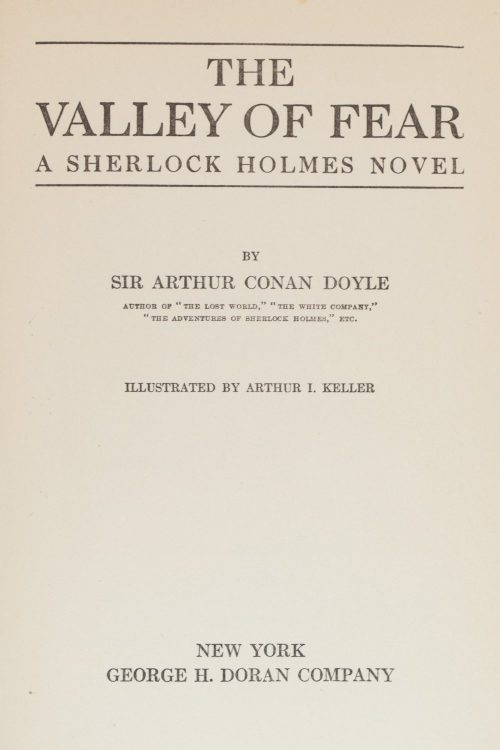 Sherlock Holmes The Valley Of Fear Arthur Conan Doyle