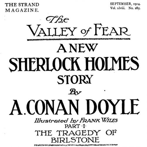 The Valley Of Fear Part 1 The Strand Magazine