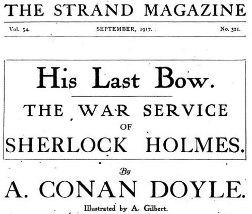 His Last Bow The War Service of Sherlock Holmes