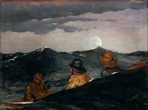 Kissing the Moon Painting by Winslow Homer