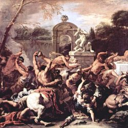 Centaurs at the Marriage of Pirithous, King of the Lapithae Painting by Sebastiano Ricci