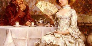 Tea in the Garden, Autumn Painting by Frederick Hendrik Kaemmerer
