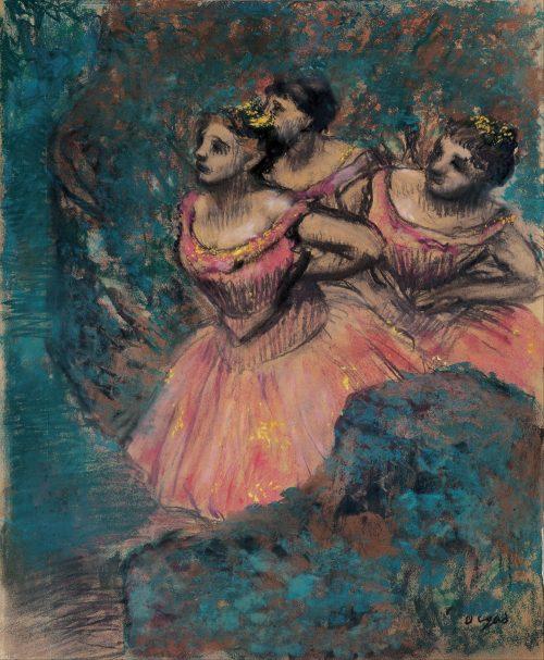 Three Dancers Painting by Edgar Degas