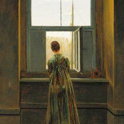Woman at a Window Painting by Caspar David Friedrich