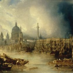 London from the Thames Painting by John Gendall