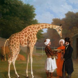 The Nubian Giraffe Painting by Jacques-Laurent Agasse