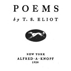 Poems by T. S. Eliot 1920