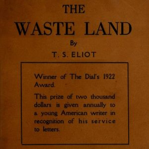 The Waste Land Poem Book Cover by T. S. Eliot