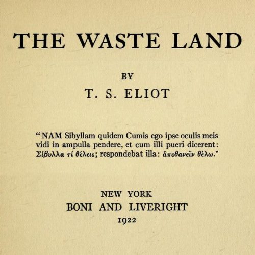 an analysis of the waste land by ts eliot About the poet t s eliot (1888-1965) as a poet and critic came to define the  modernist movement and still visit poet page.