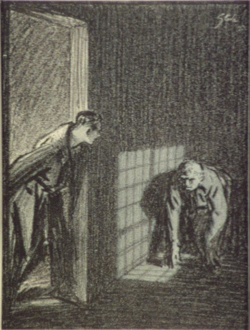 Sherlock Holmes The Creeping Man something was coming along the passage, something dark and crouching