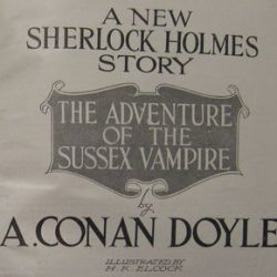 Sherlock Holmes The Adventure of the Sussex Vampire