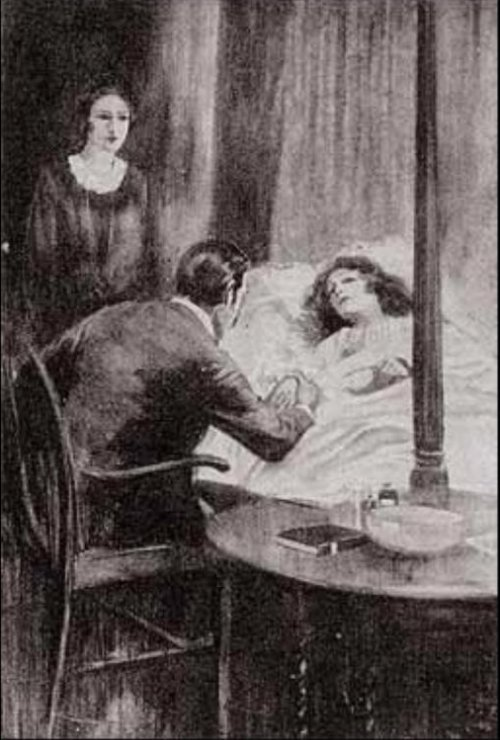 Sherlock Holmes The Sussex Vampire On the bed a woman was lying who was clearly in a high fever