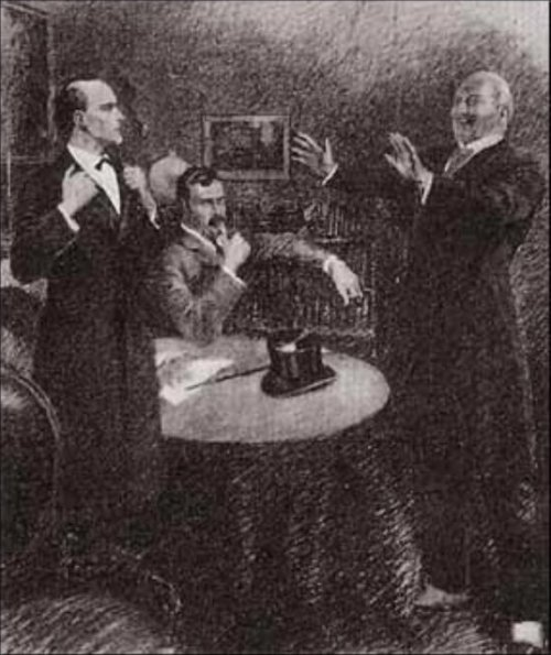 Sherlock Holmes The Illustrious Client Colonel Damery threw up his kid-gloved hands with a laugh