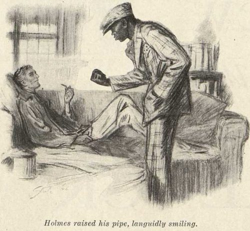 Sherlock Holmes The Three Gables Holmes raised his pipe with a languid smile