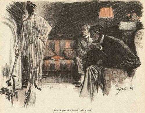 Sherlock Holmes The Three Gables Shall I give this back?