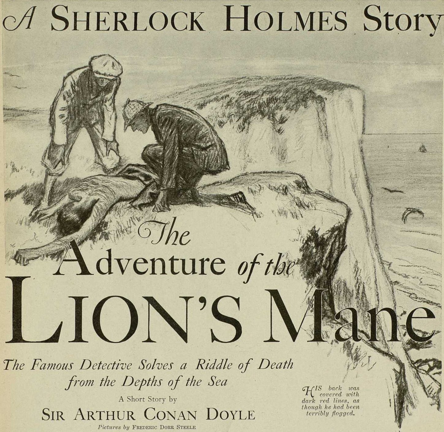 sherlock holmes the adventure of the lion s mane
