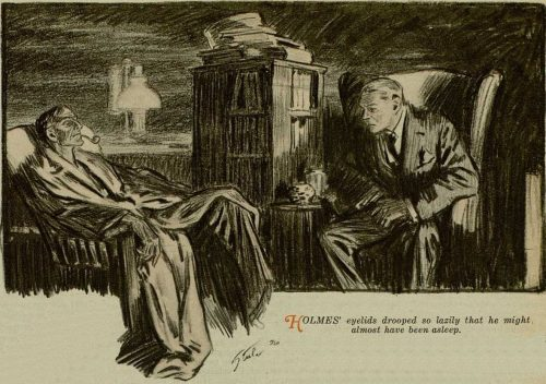 Sherlock Holmes The Retired Colourman eyelids drooped over his eyes so lazily that he might almost have been asleep