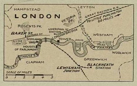 Sherlock Holmes The Retired Colourman Map of Liverpool Street Station London
