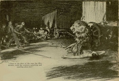 Sherlock Holmes The Veiled Lodger Close to the door of the cage lay Mrs. Ronder, upon her back, with the creature squatting and snarling above her
