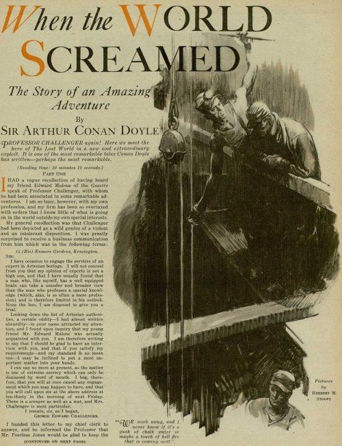 Professor Challenger When the World Screamed by Arthur Conan Doyle