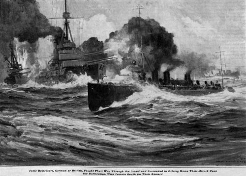 The Death Voyage Some destroyers, German or British, fought their way through the crowd and succeeded in driving home their attack upon the battleships, with certain death for their reward