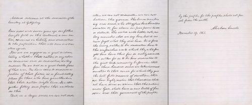Abraham Lincoln's Gettysburg Address Alexander Bliss Copy