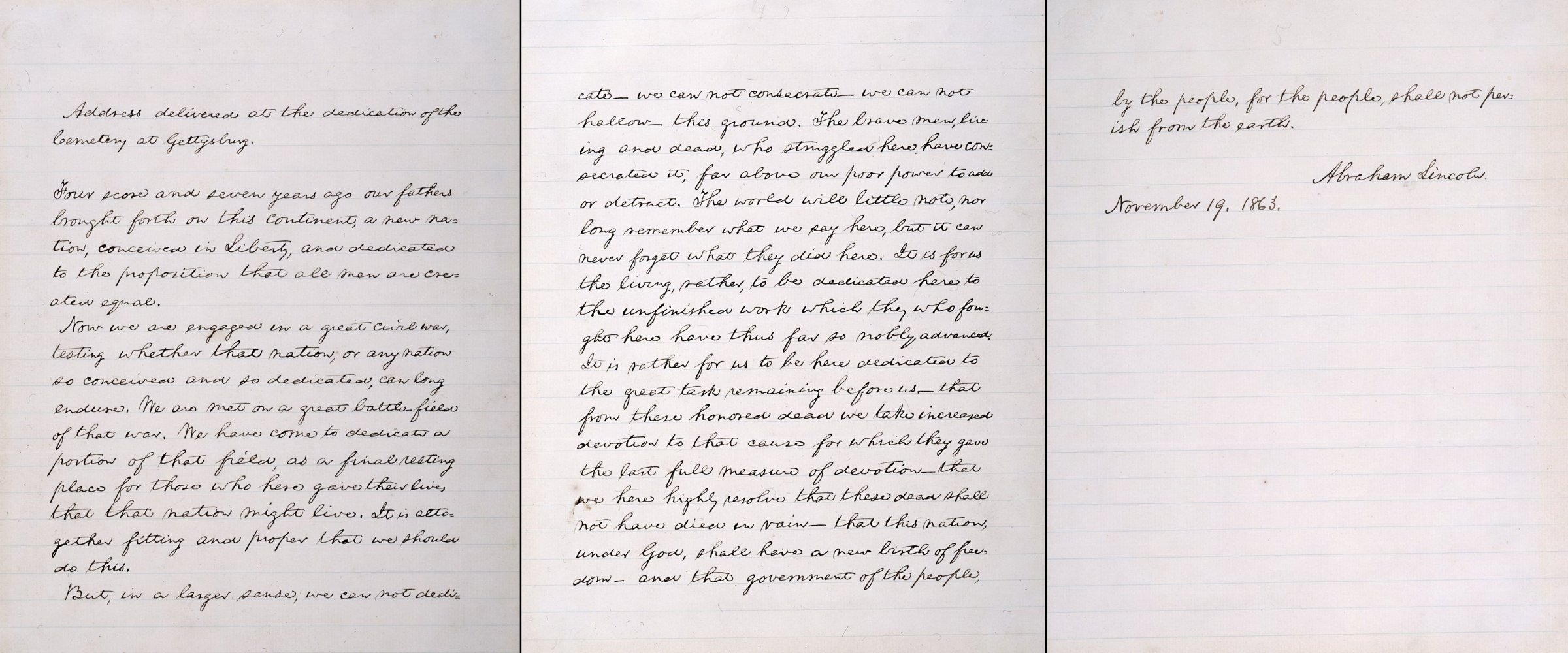 """the literary elements of abraham lincolns gettysburg address Lincoln's gettysburg address: """"a few appropriate remarks""""  it was given by  president abraham lincoln not far from frederick, md, in gettysburg, pa, at the  dedication of a soldier's  credible historians have pieced together the actual  story  2015 february features on effective communication."""
