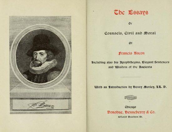 Francis Bacon The Essays
