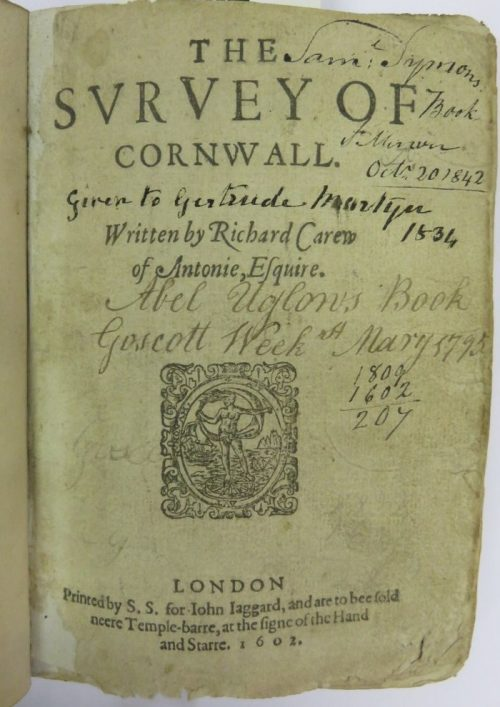 The Survey of Cornwall by Richard Carew