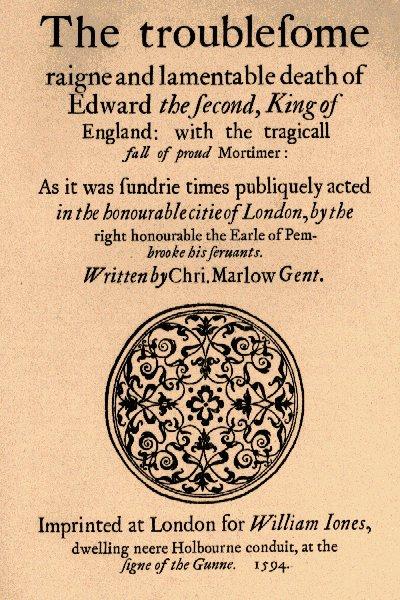 Edward II Play by Christopher Marlowe