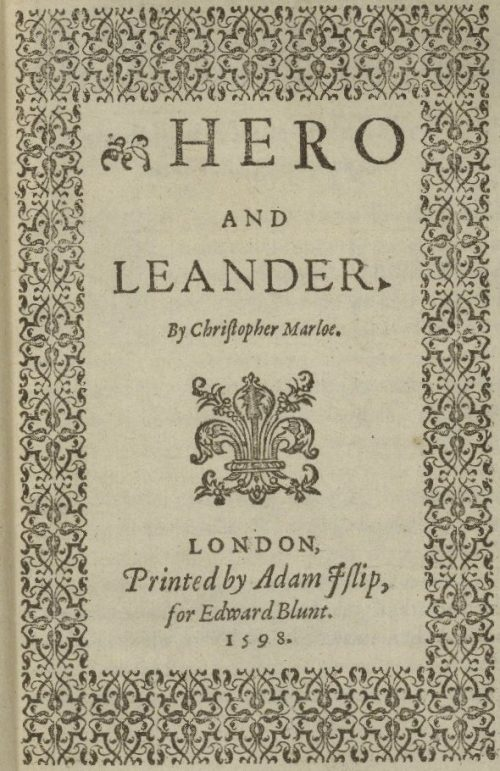 Hero and Leander by Christopher Marlowe