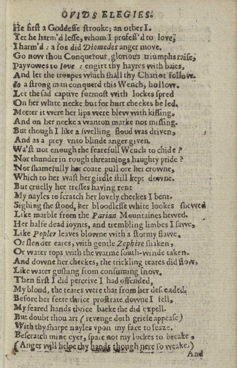 Ovid's Amores Elegies