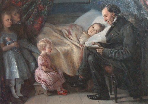 Hans Christian Andersen Painting by Elisabeth Jerichau-Baumann
