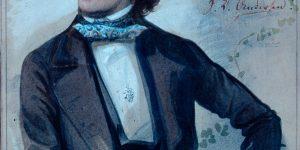Hans Christian Andersen Watercolour by Carl Hartmann