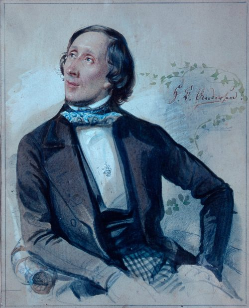 Hans Christian Andersen Watercolour by Carl Hartmann